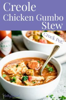Chicken Gumbo with text overlay